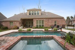 Custom Home with Custom Pool in Memphis Trace by Integrity Builders