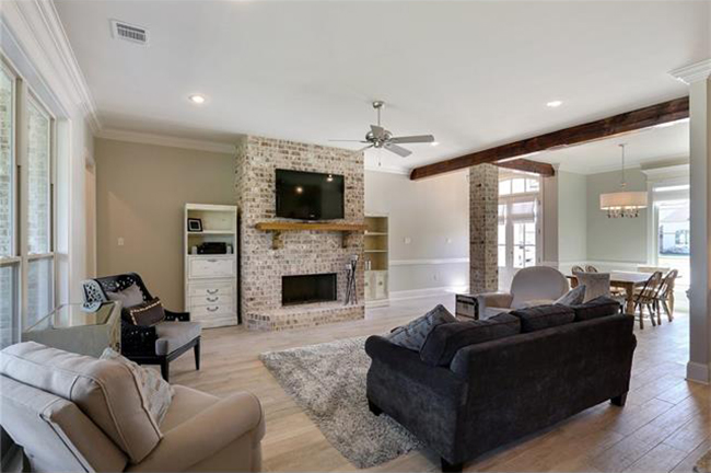 6-1056 Cypress Crossing Drive Floor to Ceiling Brick Fireplace ...